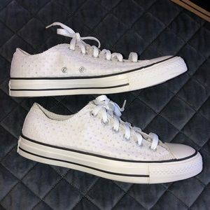 Converse All Star Women White Shoes Sz 10